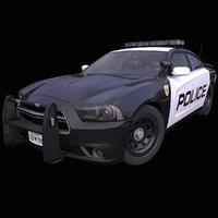 3D model generic american police car