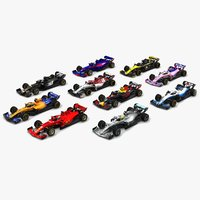 Formula 1 Season 2019 F1 Race Car Collection