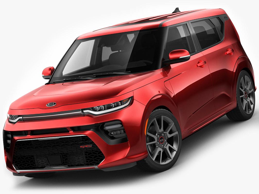 3D model kia soul 2020