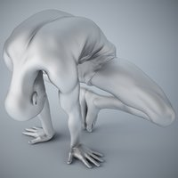 man yoga 3D model