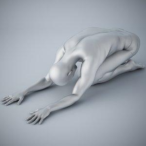 3D man yoga