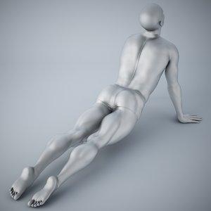 3D man yoga model