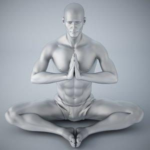 man yoga 3D