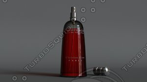 dior fahrenheit perfume 3D model
