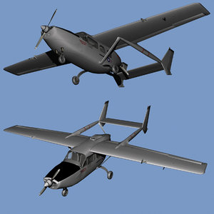bat 21 skymaster 3D model