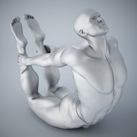 3D model man yoga