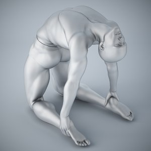 man yoga model