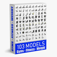 103 Models Gym + Fitness + Weight Collection