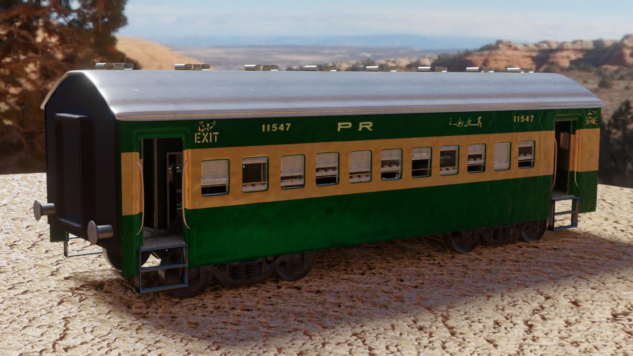 3D model pakistani train interior