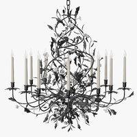 ebene chandelier pouenat - 3D model