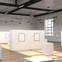 industrial art gallery 3D model