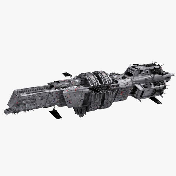 3D athena space cruiser