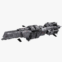 3D athena space cruiser