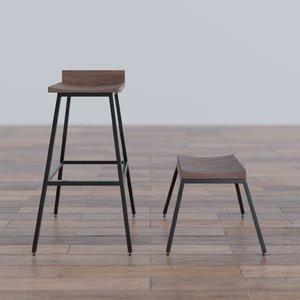 3D bar stools