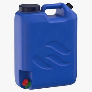 3D model water container 01