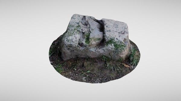 rock scanned asset 3D model