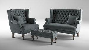 sofa armchair 3D