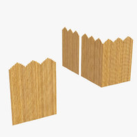 fence bamboo 3D model