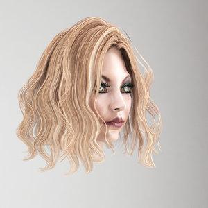 female hair 3D model