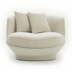 chair armchair giorgetti 3D