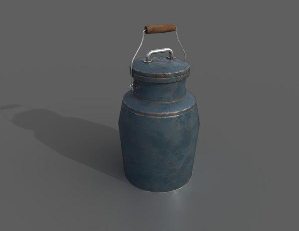 3D model milk jug