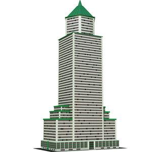 architecture building skyscraper 3D