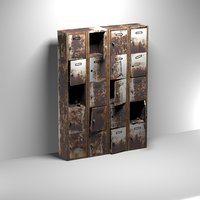 Rusty  Weathered Locker Cabinet.
