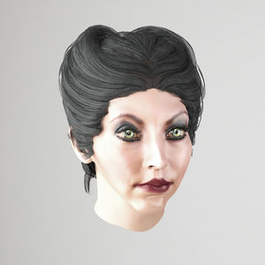 female hair hairstyle 3D model
