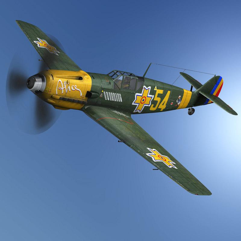 messerschmitt - bf-109 romanian 3D