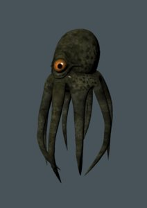 3D octopus sea monster