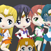 Sailor Chibi Pack (5 models)