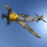 messerschmitt - bf-109 yellow 3D