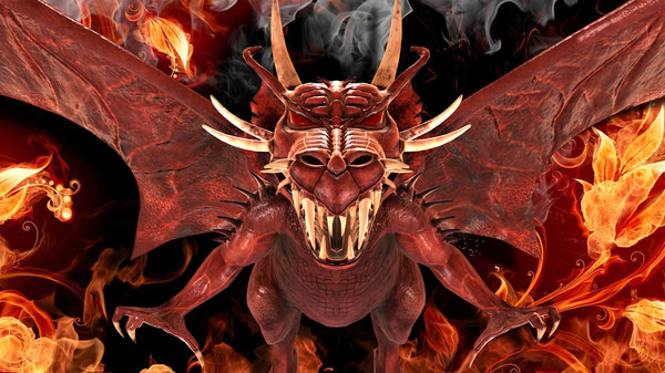 dragon creature beast 3D model