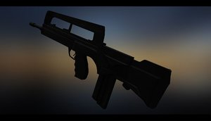 famas rifle 3D model