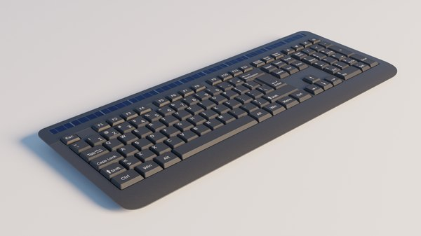 generic wireless keyboard 3D