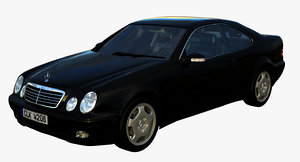 3D mercedes-benz clk w208 model