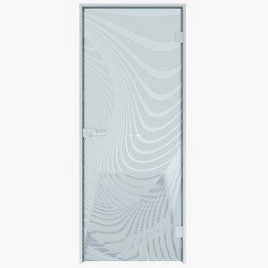 3D interior glass door