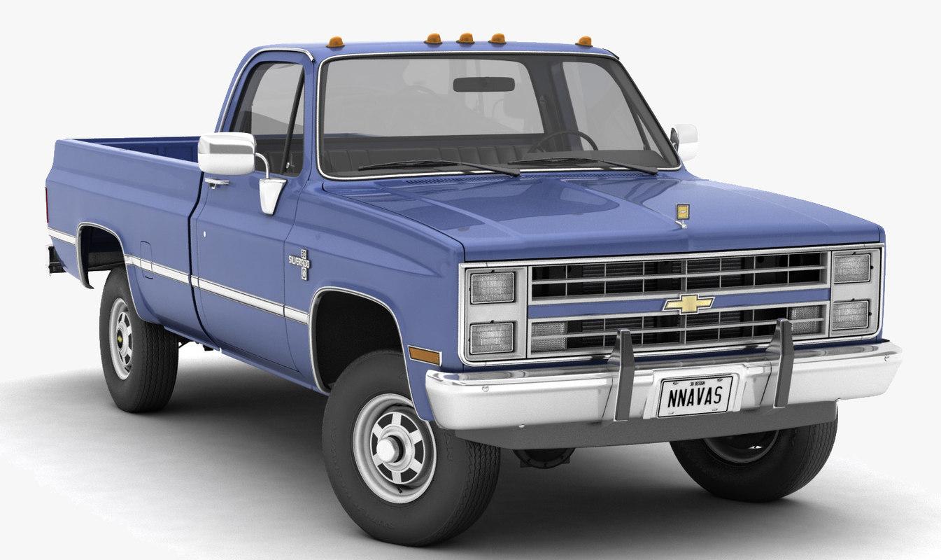 Chevrolet Truck Models >> Chevrolet K30 Silverado Pickup Truck Model Turbosquid 1392807