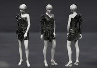 Female gament asymetric leather noop