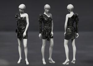 marvelous garment female dress 3D