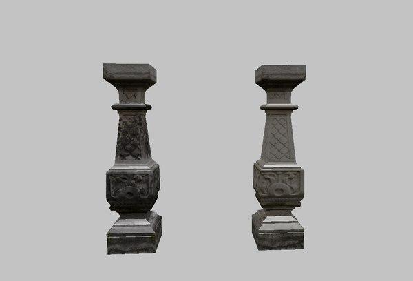 column old 3D model