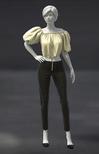 marvelous female pants 3D model