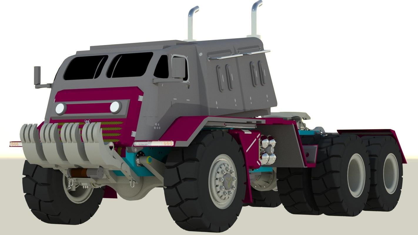 giant war truk 3D model