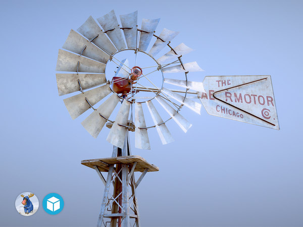 aermotor windmill 3D model