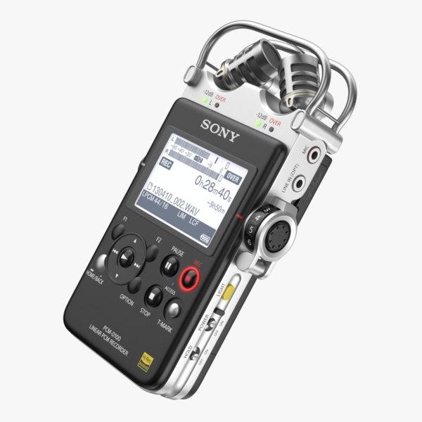 3D sony pcm d-100 recorder model