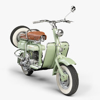 lambretta innocenti 1952 scooters 3D model