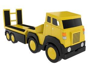 toy trailer flatbed 3D model