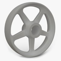 bronze wheel spokes 3D