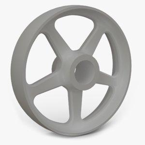 bronze wheel spokes 3D
