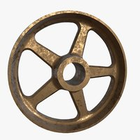 Spoked Bronze Wheel